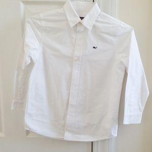 Vinyard Vines size 7 white buttoned down shirt